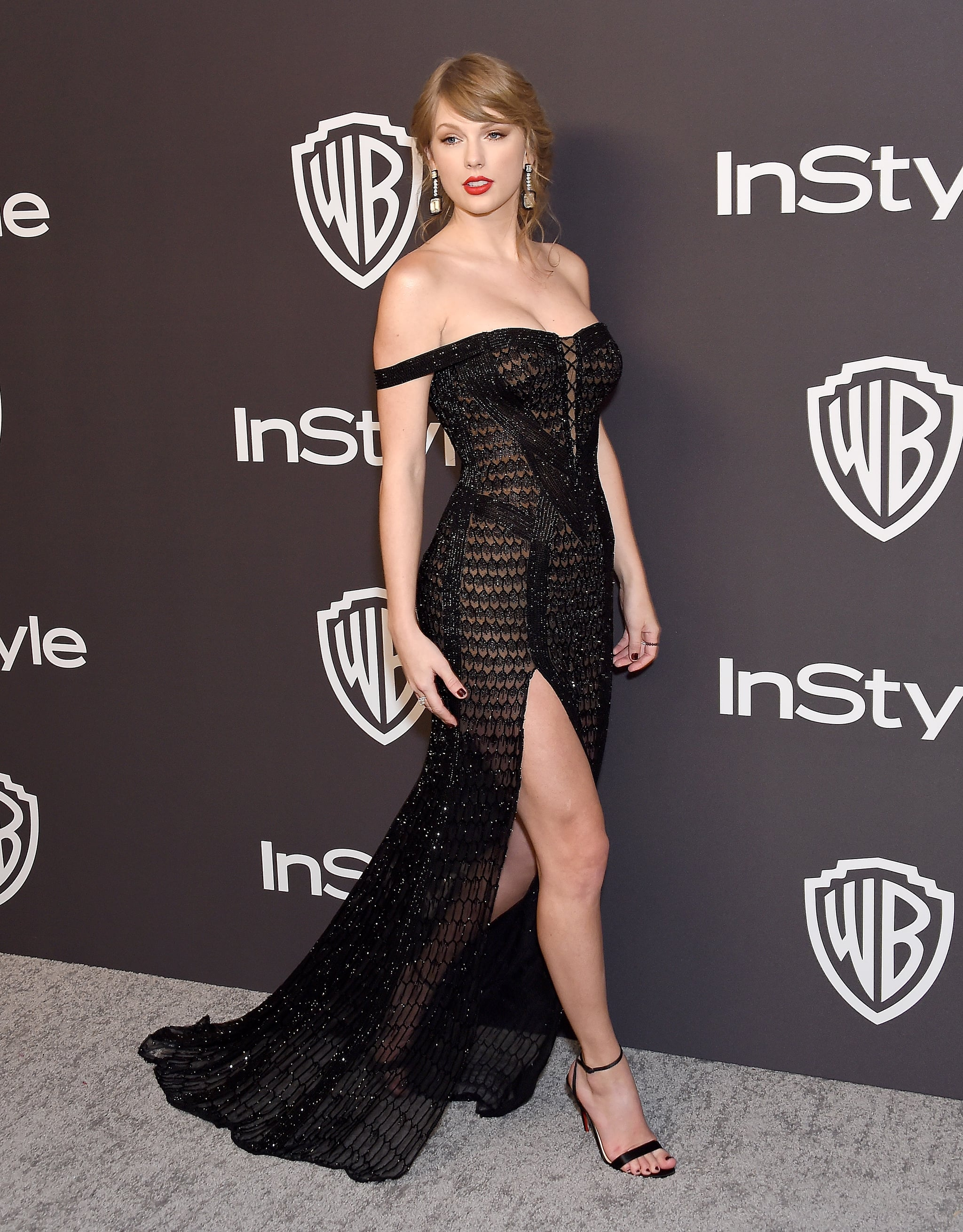 BEVERLY HILLS, CA - JANUARY 06:  Taylor Swift attends the InStyle And Warner Bros. Golden Globes After Party 2019 at The Beverly Hilton Hotel on January 6, 2019 in Beverly Hills, California.  (Photo by Gregg DeGuire/WireImage)
