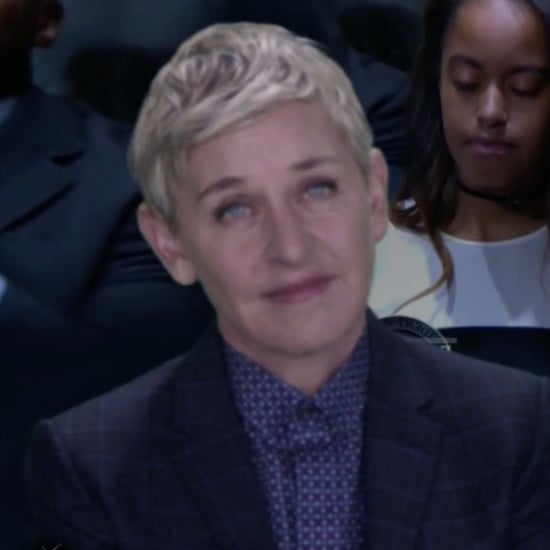 Ellen DeGeneres at President Obama's Farewell Speech Video