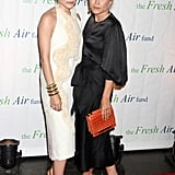 Mary-Kate Olsen and Ashley Olsen wore The Row dresses for the Fresh Air Fund's Spring Gala in NYC.