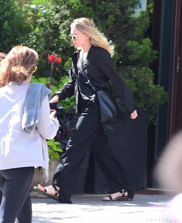Mary Kate Olsen Wearing The Row Sandals Popsugar Fashion