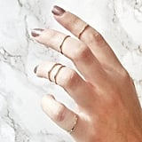 STAXX Minimalist Gold Midi Rings Set Of Five (£10)