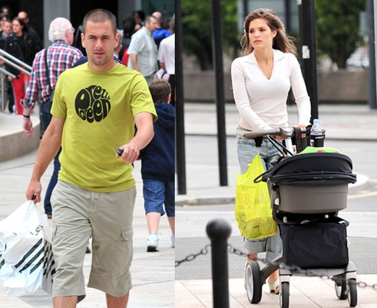 Pictures of Joe Cole and Carly Zucker With Baby Ruby in Liverpool, Ruby is Model For Huggies Little Swimmers