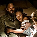 Jamie Foxx and Kerry Washington in Django Unchained.