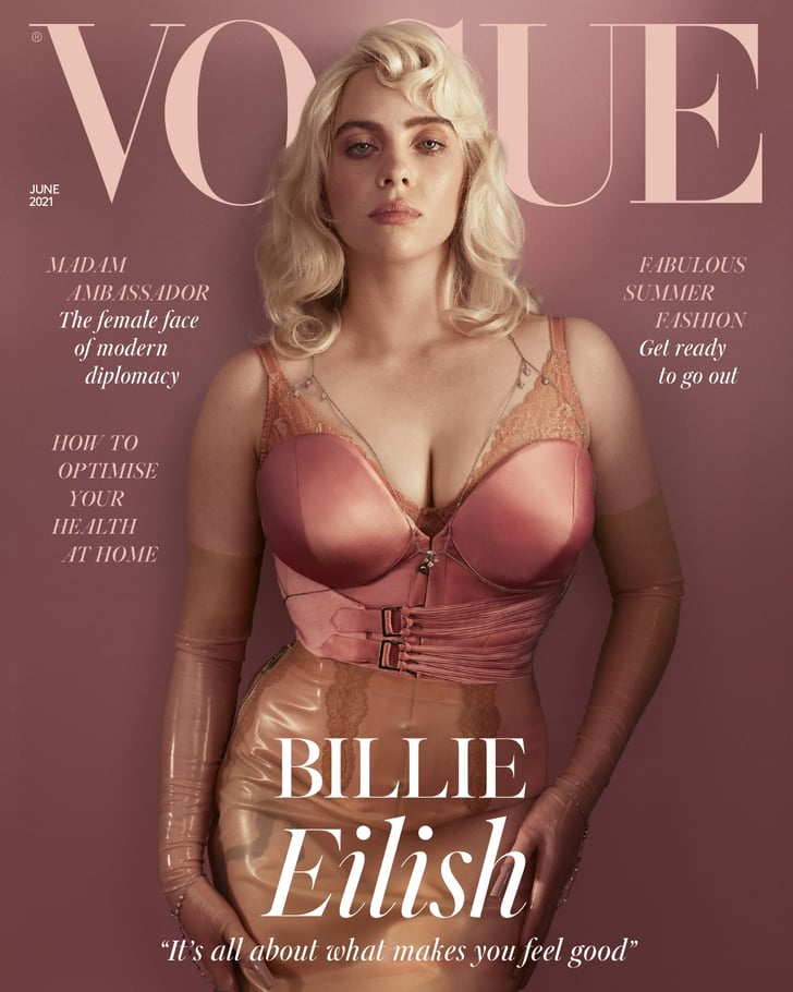 Billie Eilish Wears Corsets For British Vogue 2021