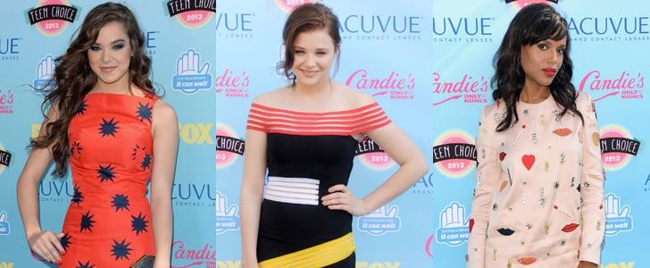 Teen Choice Awards Red Carpet Dresses 2013