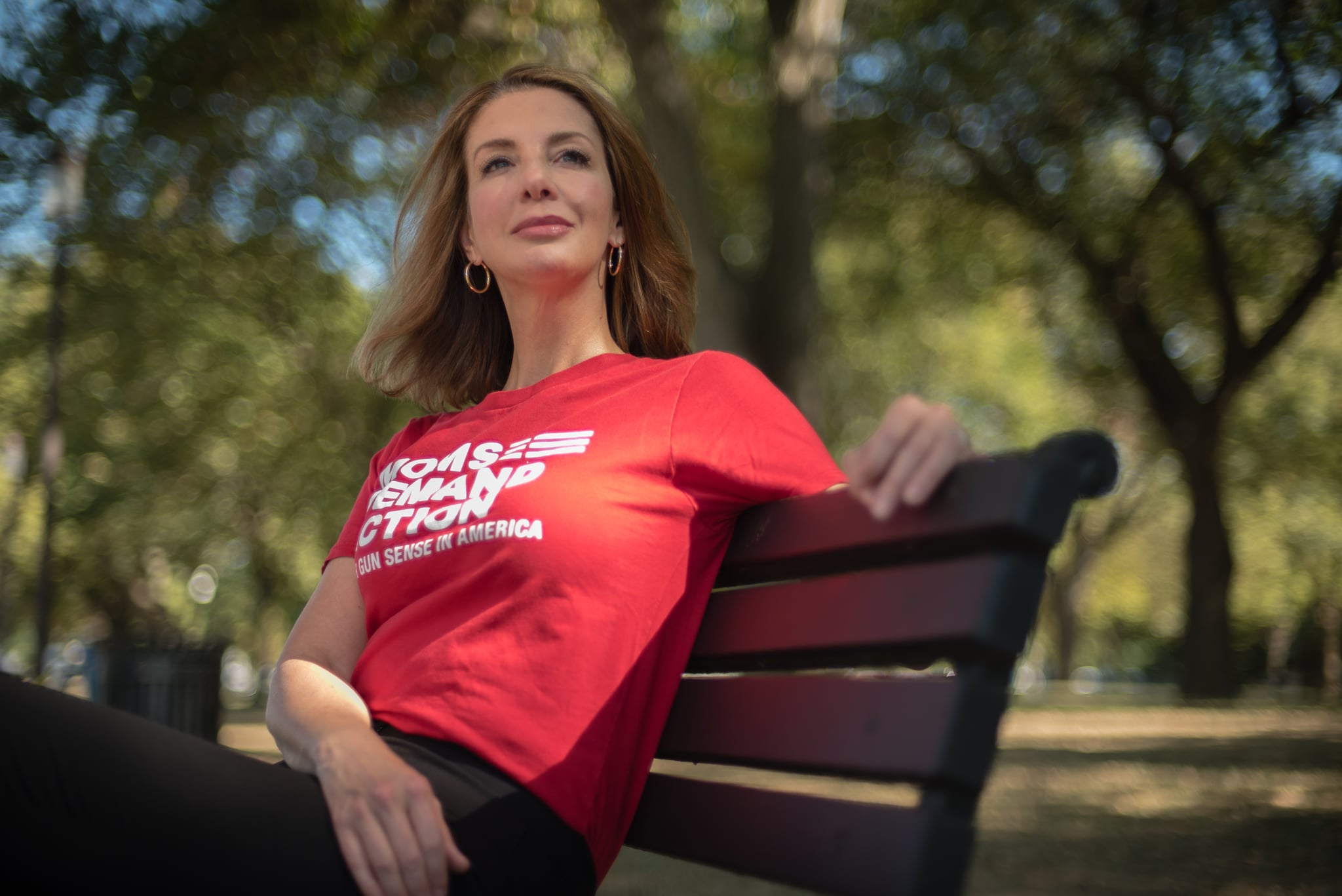 WASHINGTON, DC -- SEPTEMBER 25: Shannon Watts is the founder of the gun safety group, Moms Demand Action, the nations largest grassroots organisation fighting to end gun violence.  For Just Asking Profile. (photo by Andre Chung for The Washington Post via Getty Images)