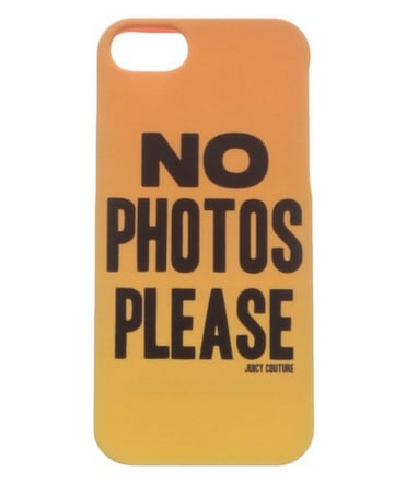 Juicy Couture No Photos Please iPhone 5 Case