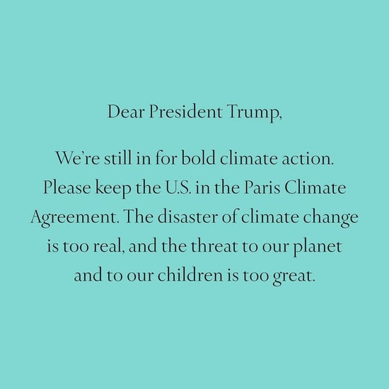 Tiffany and Co. Climate Change Instagram Photo