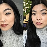 Full Face: Before Work (Left) and Midday (Right)