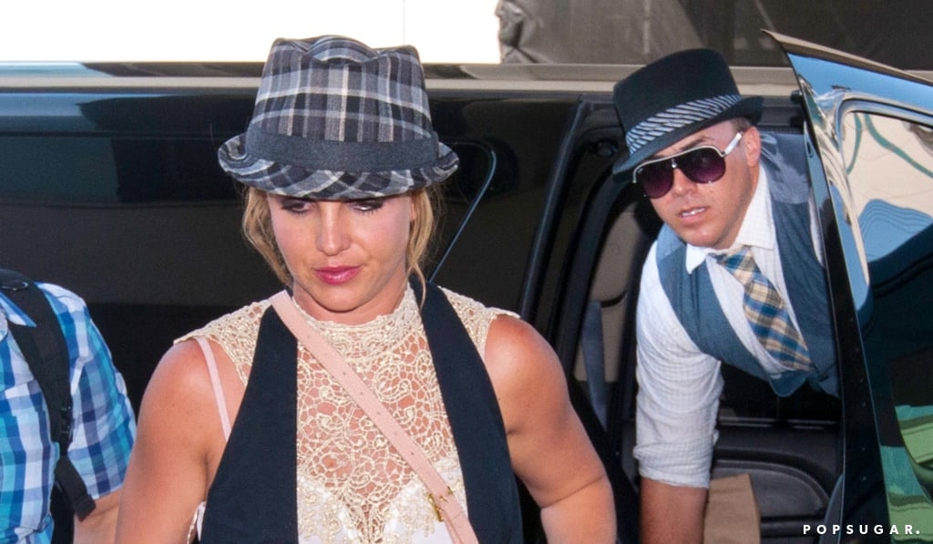 Britney Spears and David Lucado exited her SUV.