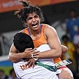 When Sakshi Malik won India's first medal at Rio.