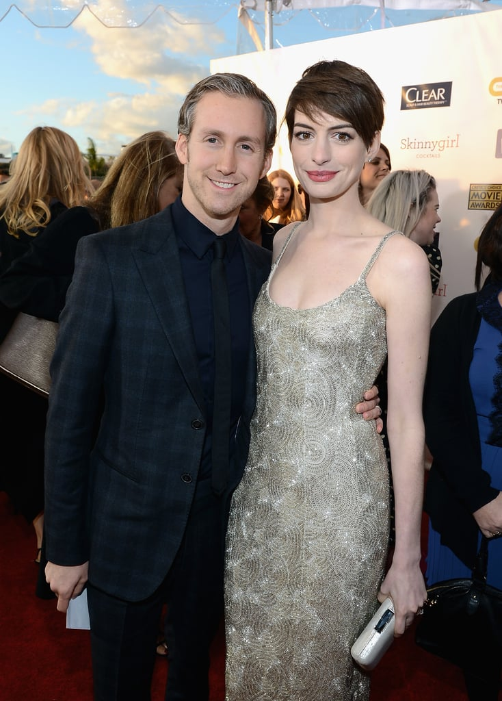Anne Hathaway and Adam Shulman