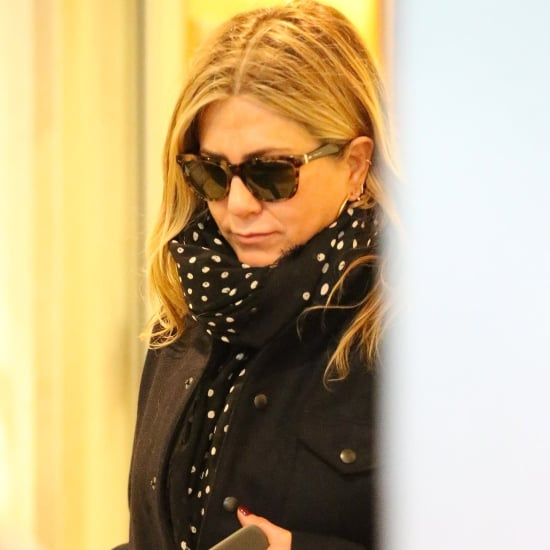 Jennifer Aniston Polka Dot Scarf