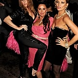 Stella McCartney, Fran Cutler, and Kate Moss playfully posed for a photo.