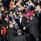Brad Pitt arrived at the premiere of Killing Them Softly.