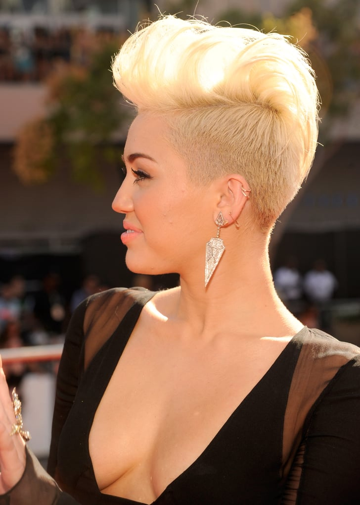 miley cyrus new hair style miley cyrus showed new hair style on the 6770
