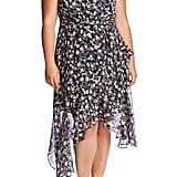 CeCe Plus Size Botanic Charm Cascading Ruffle Sleeveless Dress