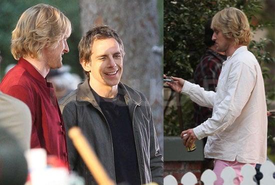 Photos of Owen Wilson and Ben Stiller on the Set of Little Fockers
