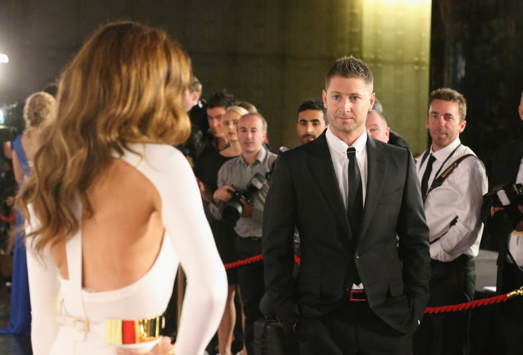 Michael Clarke Celebrates His Allan Border Medal Honour With Wife Kyly