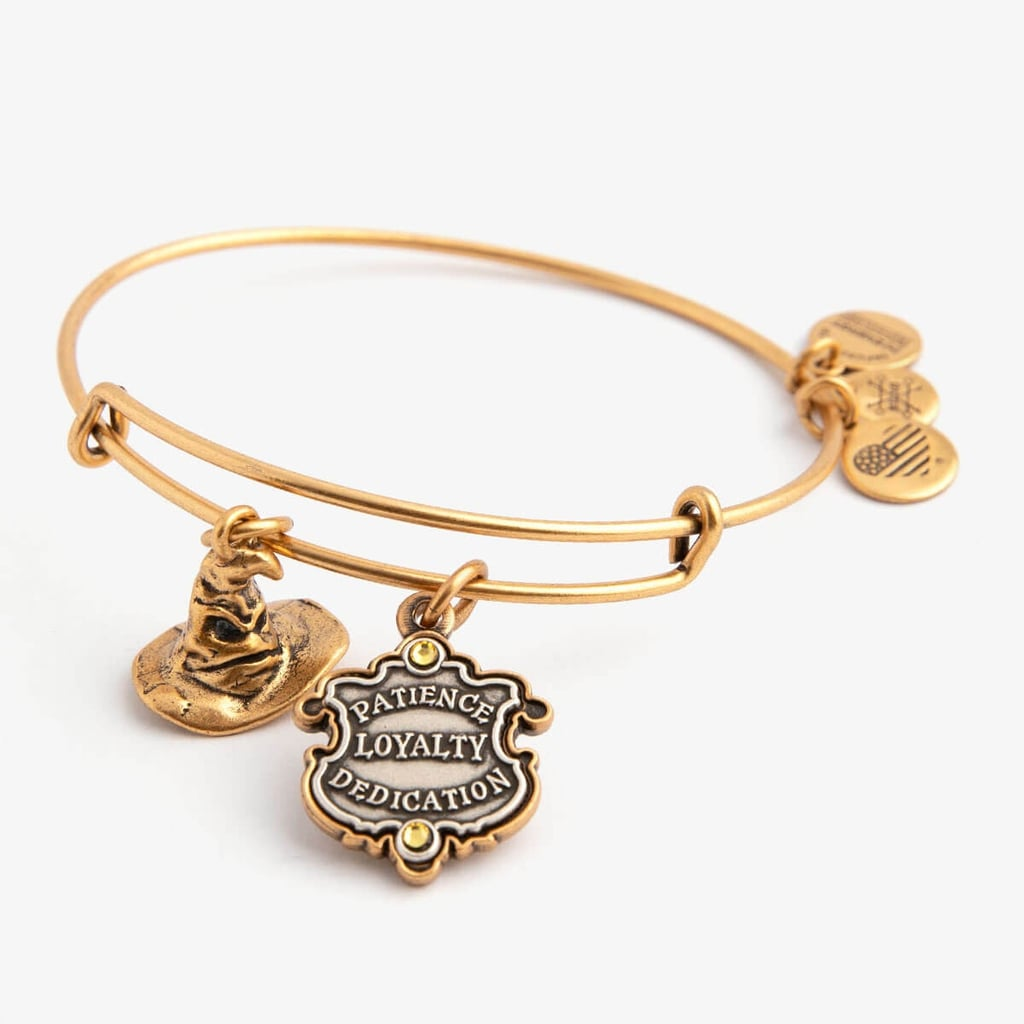 Harry Potter Hufflepuff and Sorting Hat Duo Charm Bangle
