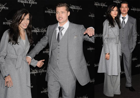Photos of Brad Pitt and Angelina Jolie at the Paris Premiere of the Curious Case of Benjamin Button