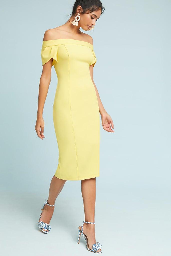 3400eec7f44b3 Anthropologie Teatime Off-the-Shoulder Column Dress   Best Dresses ...