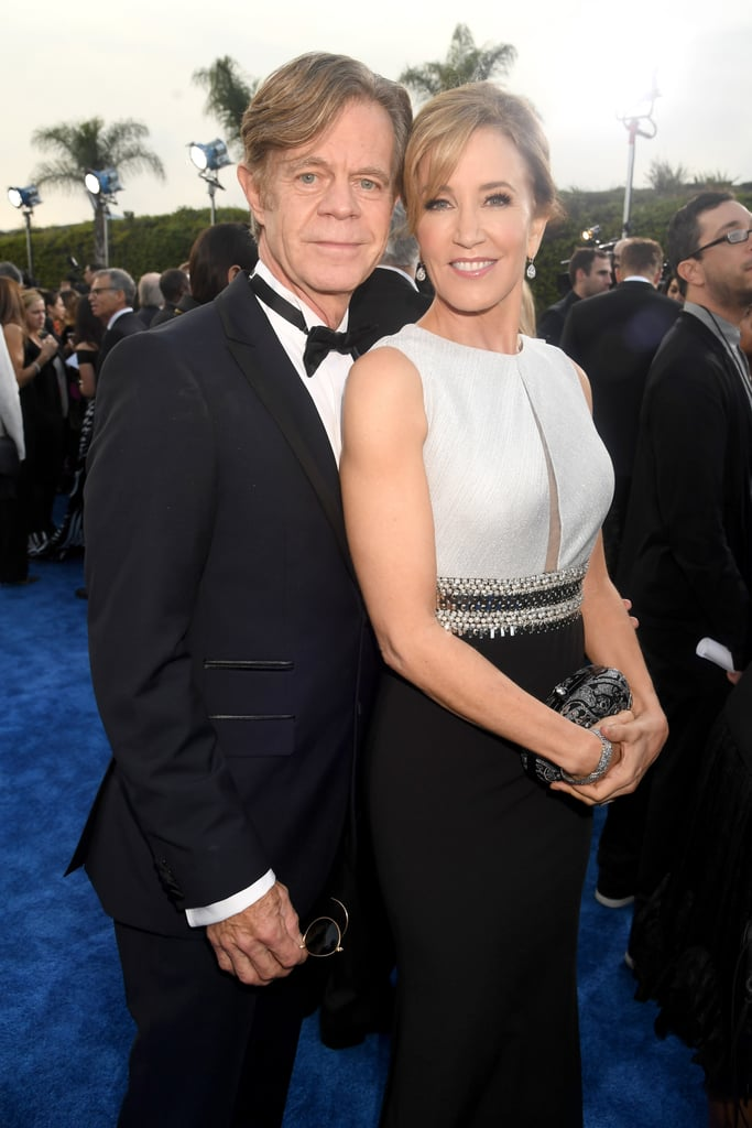 Felicity Huffman and William H. Macy put their romance on full display when they attended the Critics' Choice Awards on Sunday. The couple had a little fun with the cameras as they struck their best poses on the blue carpet. While William donned a dark blue suit, his wife looked stunning in a black and white dress. Of course, this isn't the first time the two have made us smile with their sweet love. They were certainly the life of the party when they attended the Emmys together in September.       Related:                                                                Announcing the Nominees For This Year's Critics' Choice Awards!                                                                   We're Still So Amped Up Over the Looks at Last Year's Critics' Choice Awards