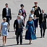 Princess Eugenie, Prince Andrew, Princess Beatrice, and Princess Anne