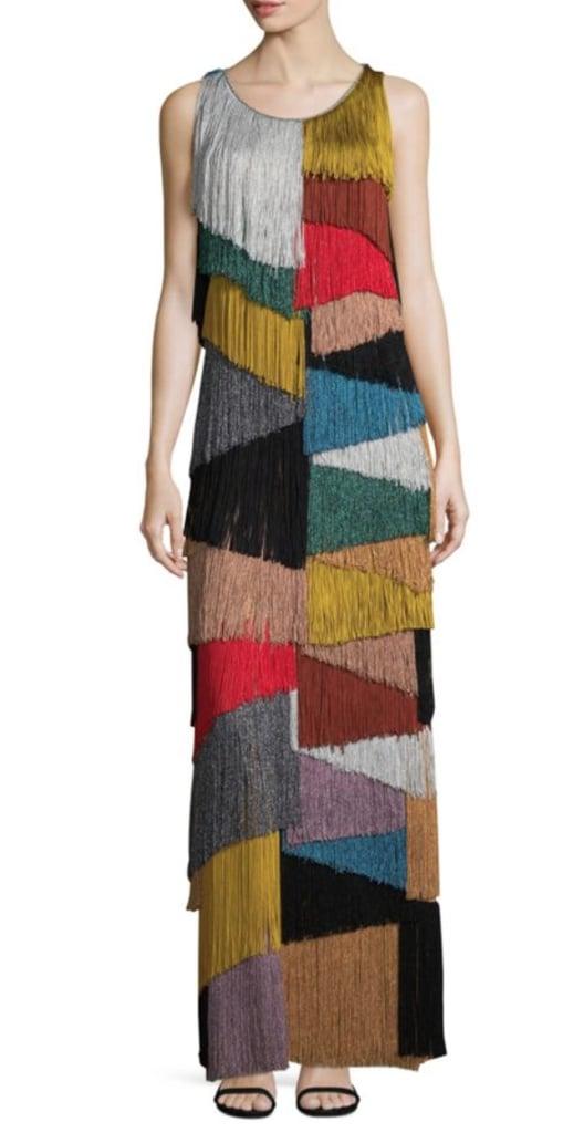 Missoni Multicolor Fringe Lame Gown