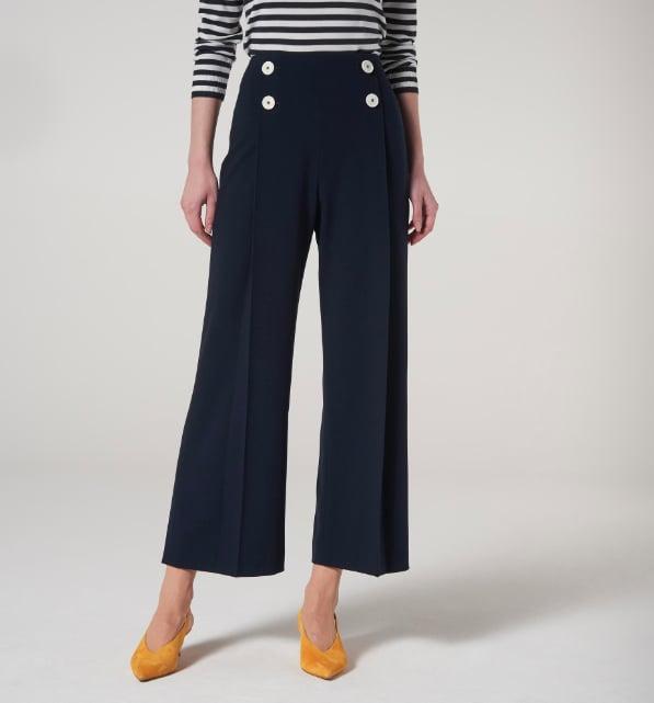 Shop Kate Middleton's L.K. Bennett London Parker Navy Trousers