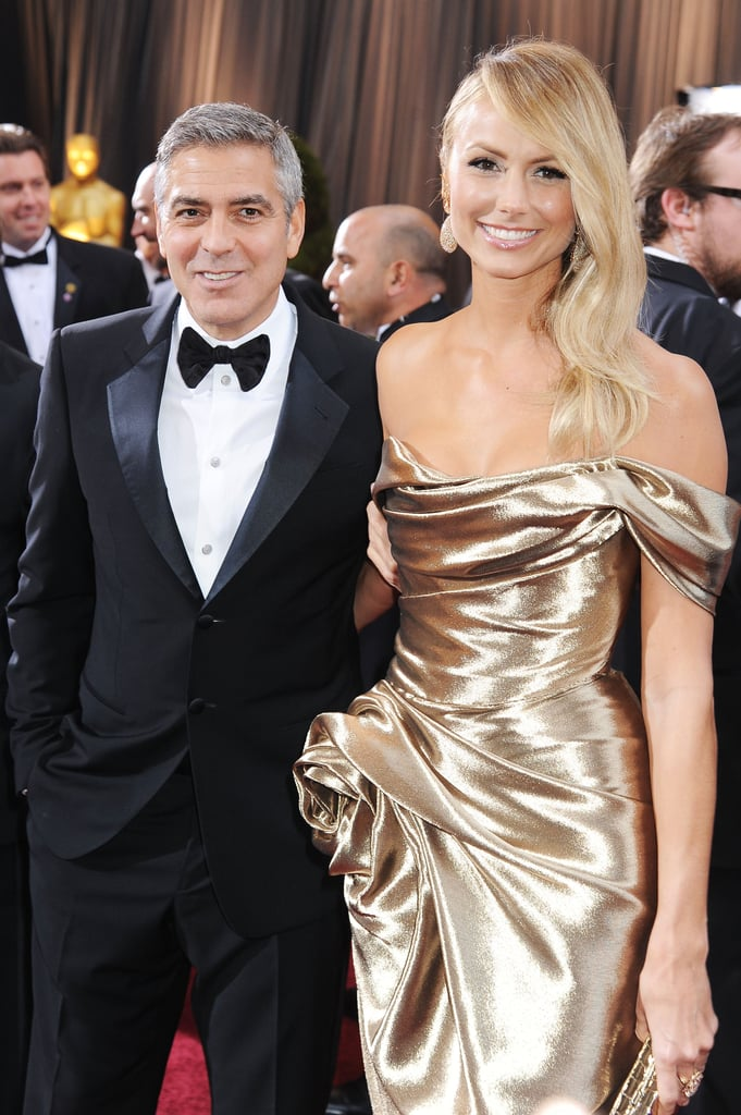 George Clooney and Stacy Keibler at the 84th Academy Awards.