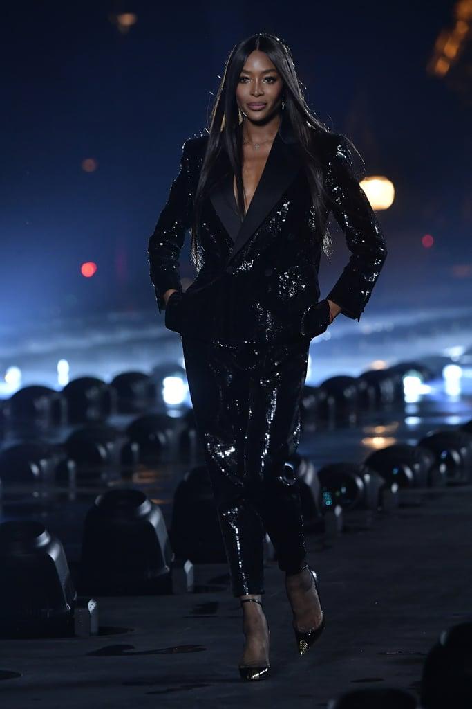 Naomi Campbell Closed Saint Laurent Spring 2020 Show | POPSUGAR Fashion UK