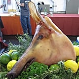 Who knew? A pig's head makes a great display!