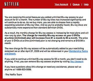 Netflix Raises Blu-ray Access Prices