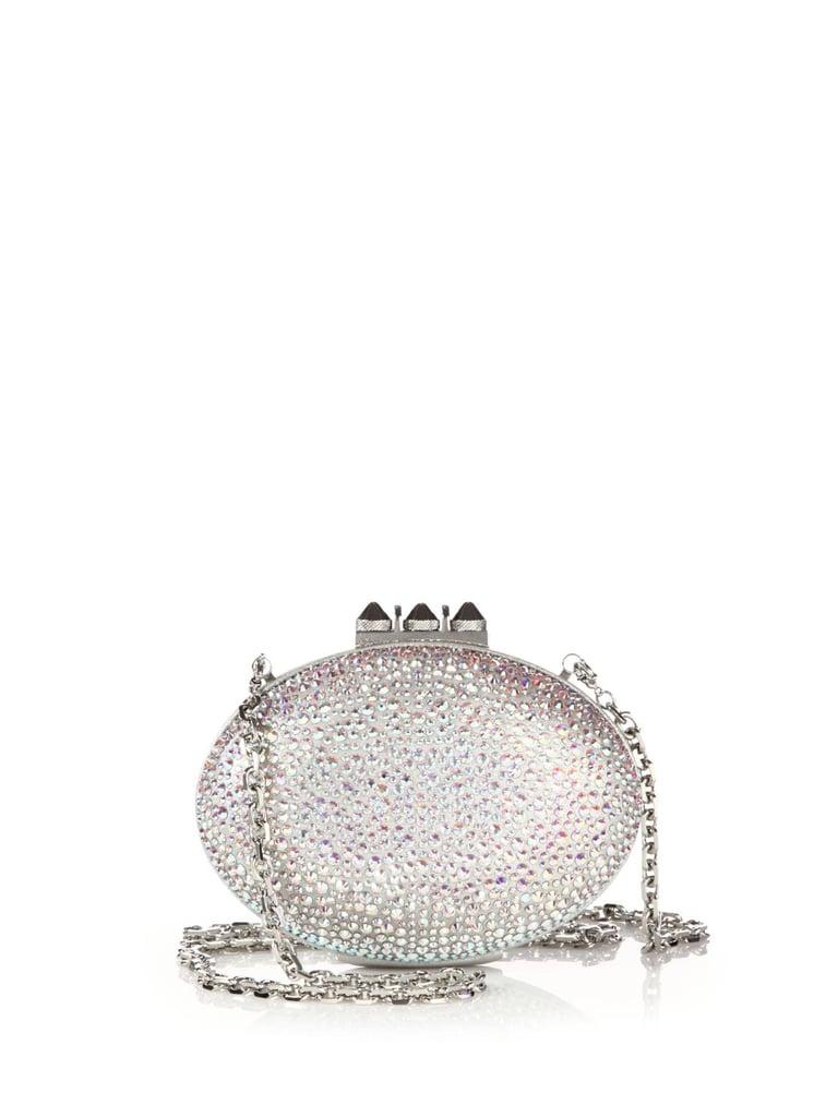 Christian Louboutin Mina Embellished Suede Burma Clutch ($2,995)