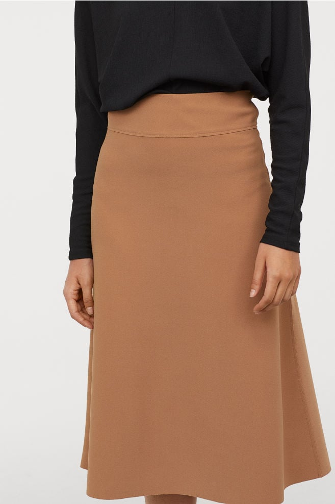 Creped Jersey Skirt