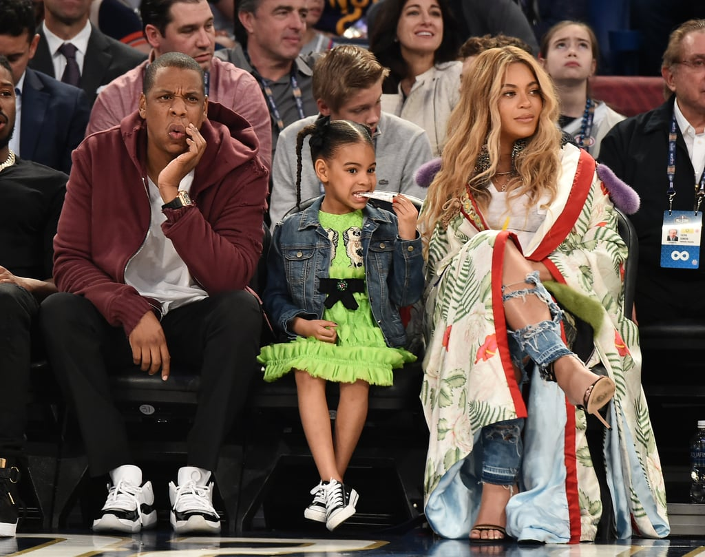 Beyonce With Jay Z and Blue Ivy at NBA All-Star Game 2017 ...