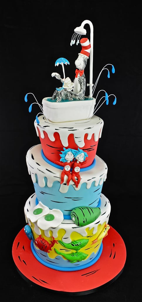 The Cat In The Hat Shower Cake Pretty Baby Shower Cake Ideas