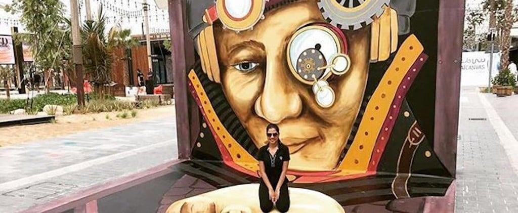 واجهة دبي الشاطئيّة هذه تتحوّل إلى معرضٍ فنيٍّ ثلاثيّ الأبعاد لأسبوعٍ واحدٍ فقط