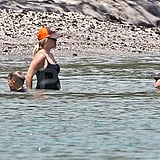 Reese Witherspoon went swimming with Ava and Deacon.