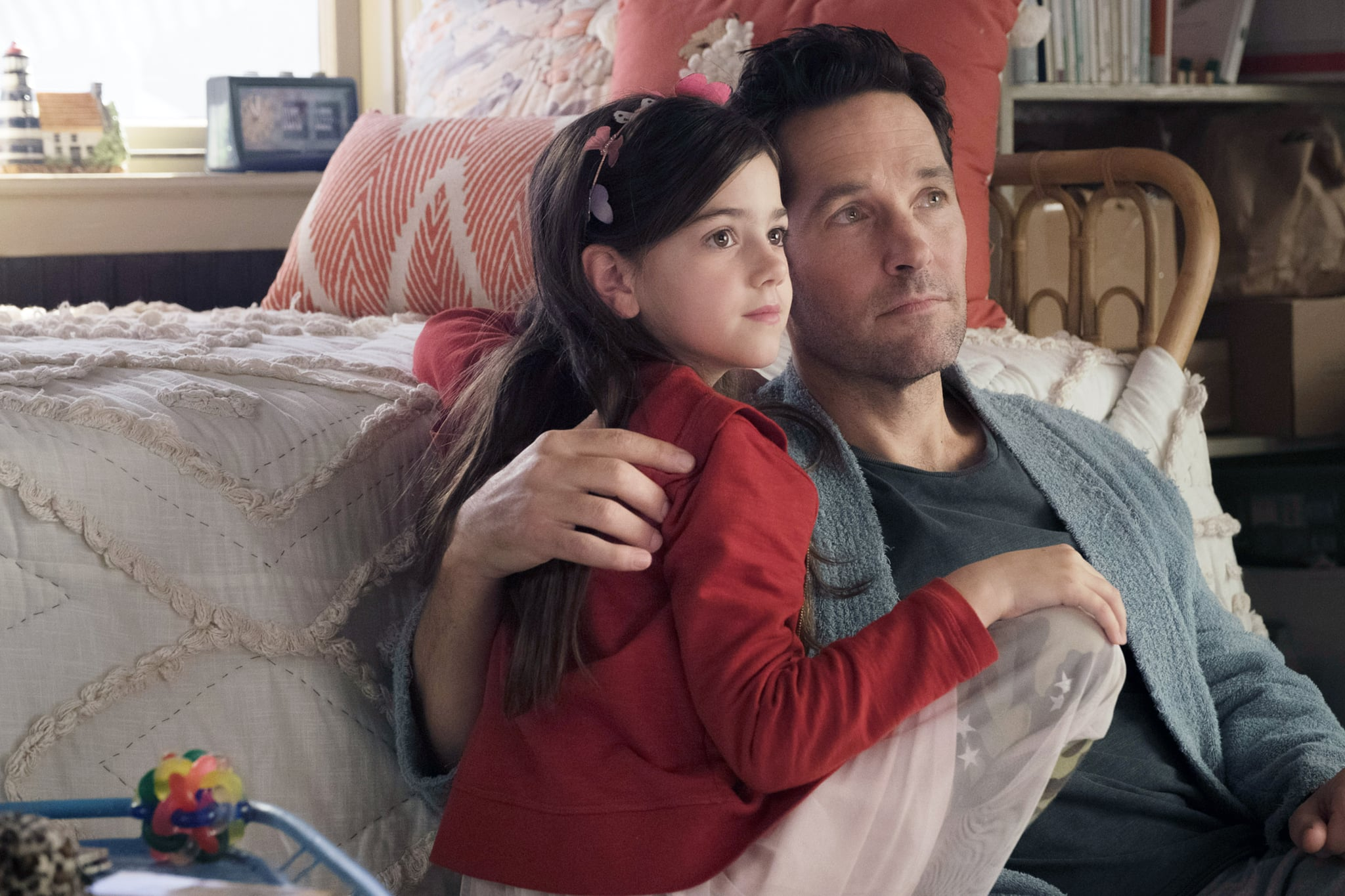 ANT-MAN AND THE WASP, from left: Abby Ryder Fortson, Paul Rudd, 2018. ph: Ben Rothstein / Marvel / Walt Disney Studios Motion Pictures /Courtesy Everett Collection