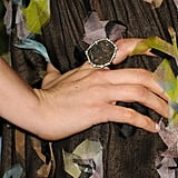 Her gem-encrusted ring only added to the floral-meets-feminine vibe of her Chanel Spring '13 dress.