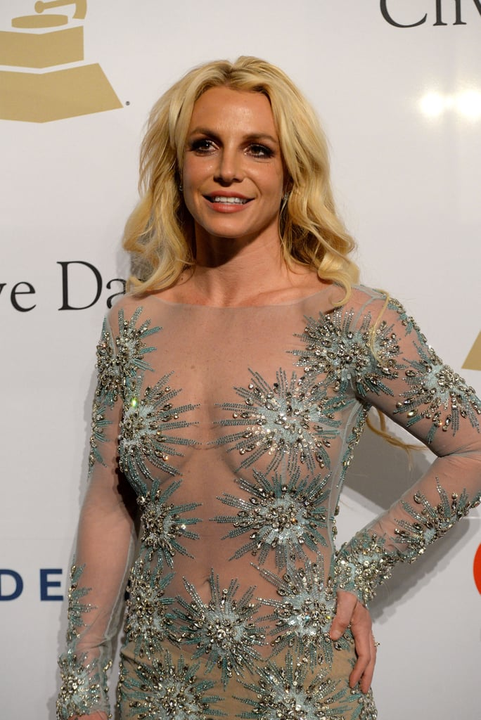 """Britney Spears may have hit the red carpet solo at Clive Davis's annual pre-Grammys bash in LA on Saturday night, but inside, she wasn't alone. After posing for photos in a crystal-embellished dress, Britney shared a photo of herself with her new boyfriend, Sam Asghari, to Instagram, saying she had """"an amazing night."""" The singer has been dating her hot new beau since November, after meeting on the set of her """"Slumber Party"""" music video.  It's been a week of ups and downs for Britney, whose family suffered a tragic event when her niece, Maddie, was involved in an ATV accident and spent time in the hospital. Britney spoke out about the incident via social media by posting a sweet photo of the 8-year-old and asking for """"all the wishes and prayers."""" Thankfully, Maddie regained consciousness and was able to go home, and both her mom, Jamie Lynn, and Britney thanked her fans for their support.        Related:                                                                                                           32 of the Sexiest Instagram Snaps Britney Spears Has Ever Posted"""