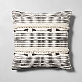 Knotted Throw Pillow in Cream / Gray