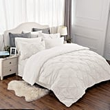 Bedsure Eight Pieces Pinch Pleat Down-Alternative Comforter Set