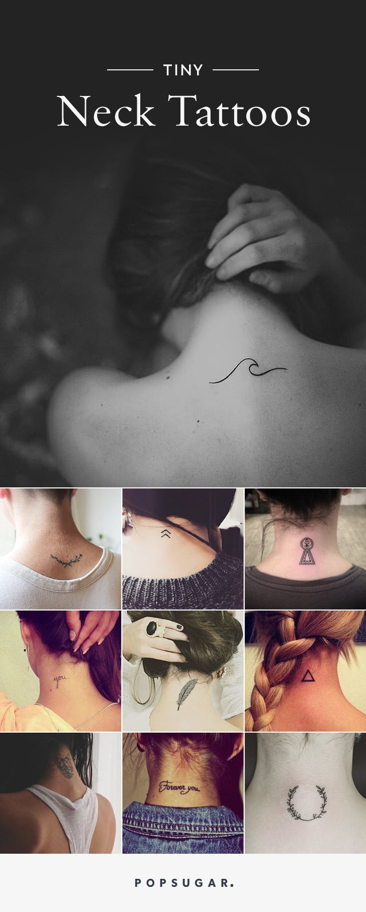 25 Back Of Neck Tattoo Pictures Popsugar Beauty