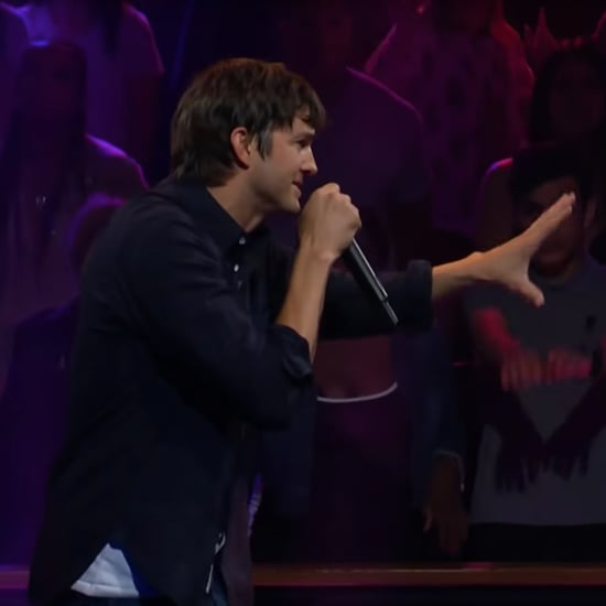 Ashton Kutcher and James Corden Rap Battle Video