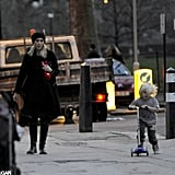 Gwen Stefani watched Zuma Rossdale scooter around London.