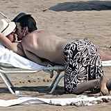 Her then-fiancé Kevin Federline snuck in kisses as the pair vacationed in Hawaii in July 2004.