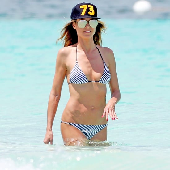 Heidi Klum Wearing a Bikini in Turks and Caicos April 2017